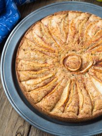 Spiced Walnut Pear Cake Recipe #ASpicyPerspective #holiday #christmas