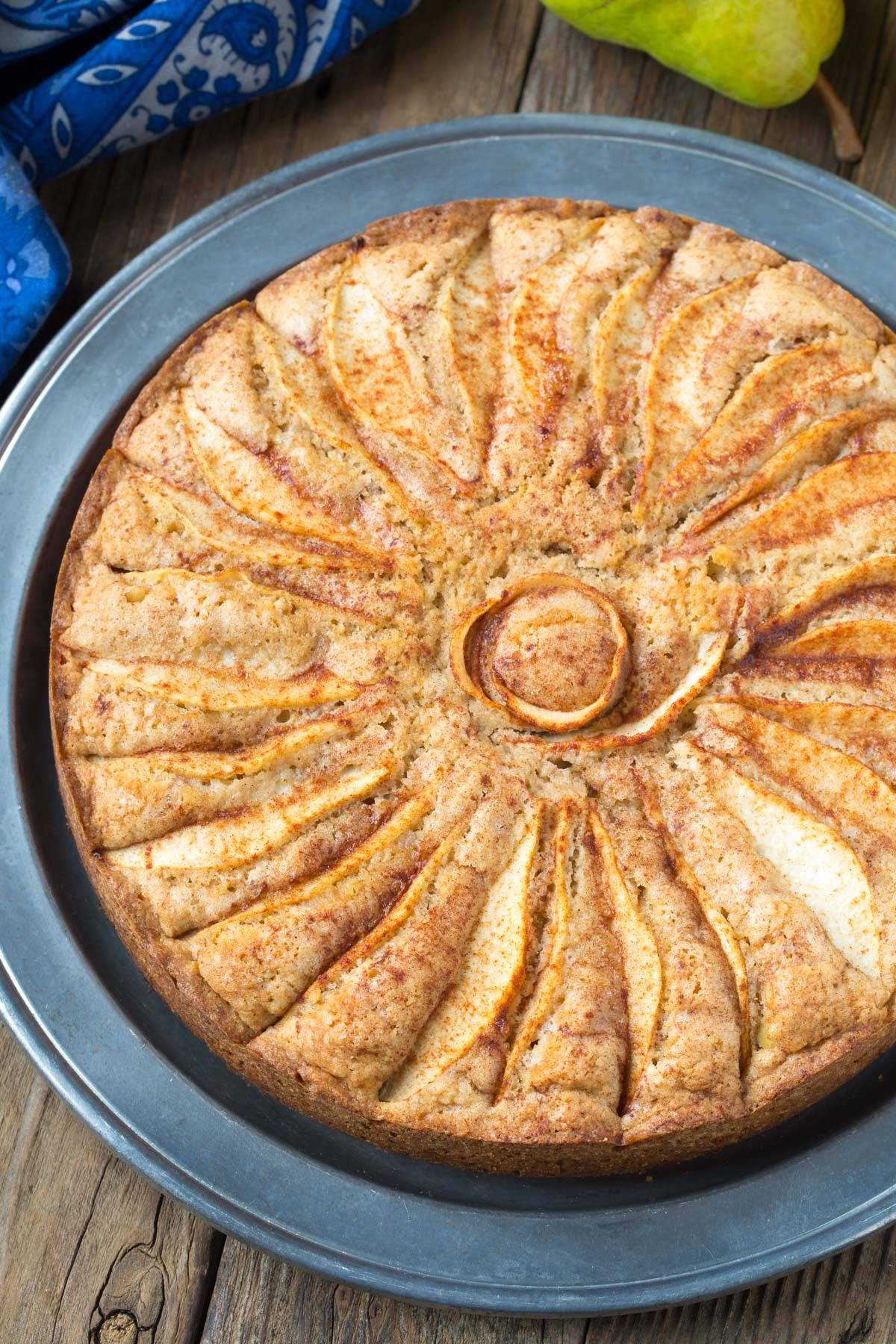 Best Spiced Walnut Pear Cake Recipe #ASpicyPerspective #holiday #christmas