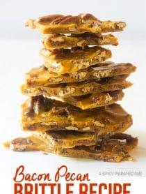Holiday Bacon Pecan Brittle Recipe #ASpicyPerspective