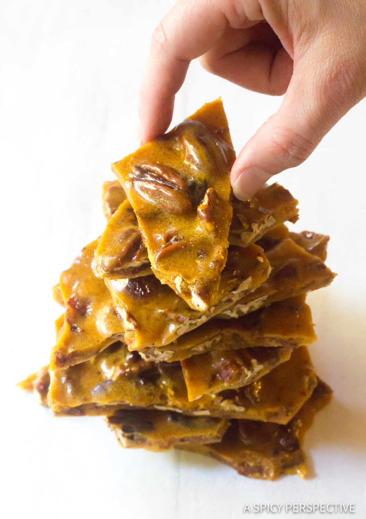 Fluffy Bacon Pecan Brittle Recipe #ASpicyPerspective