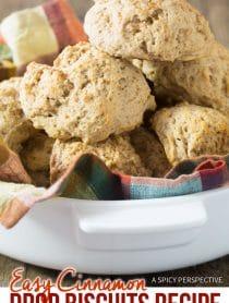 Best Easy Cinnamon Drop Biscuits Recipe #ASpicyPerspective
