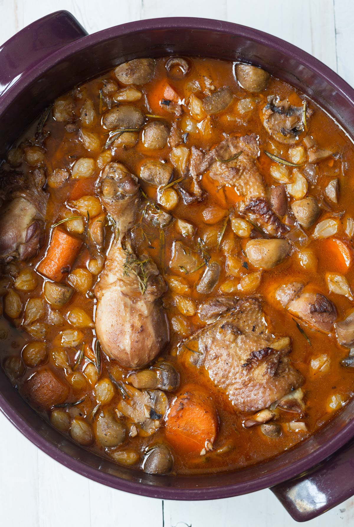 Coq au Vine Recipe #ASpicyPerspective #french #holiday
