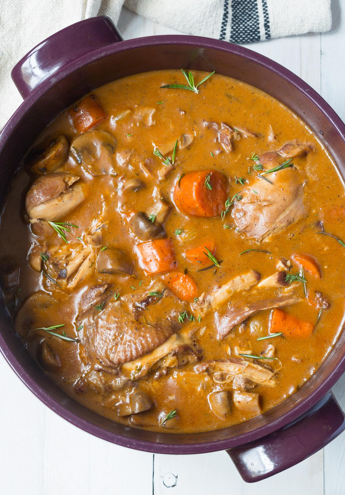 Best Creamy Coq au Vine Recipe #ASpicyPerspective #french #holiday