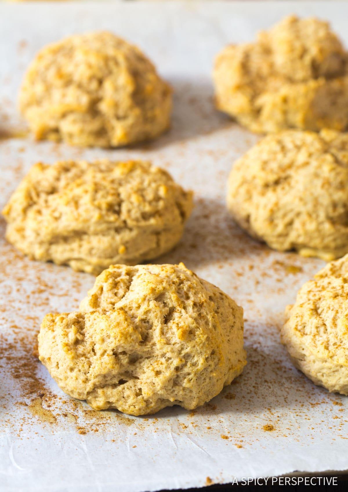 Fluffy Easy Cinnamon Drop Biscuits Recipe #ASpicyPerspective