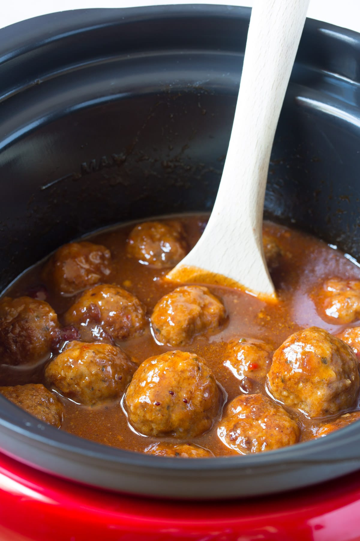 Easy Slow Cooker Cocktail Meatballs Recipe - (Crock Pot Meatballs) #ASpicyPerspective #meatballs #slowcooker #crockpot #meatballs