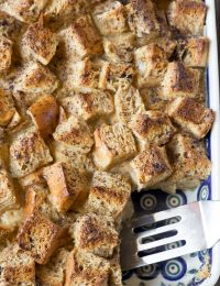 Vietnamese Coffee Bread Pudding Recipe #ASpicyPerspective #holiday #christmas