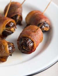 Crisp Spicy Bacon Wrapped Dates with Goat Cheese Recipe #ASpicyPerspective