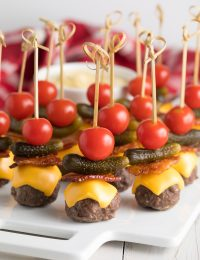 Low Carb Burger Bites Recipe #ASpicyPerspective #keto #superbowl
