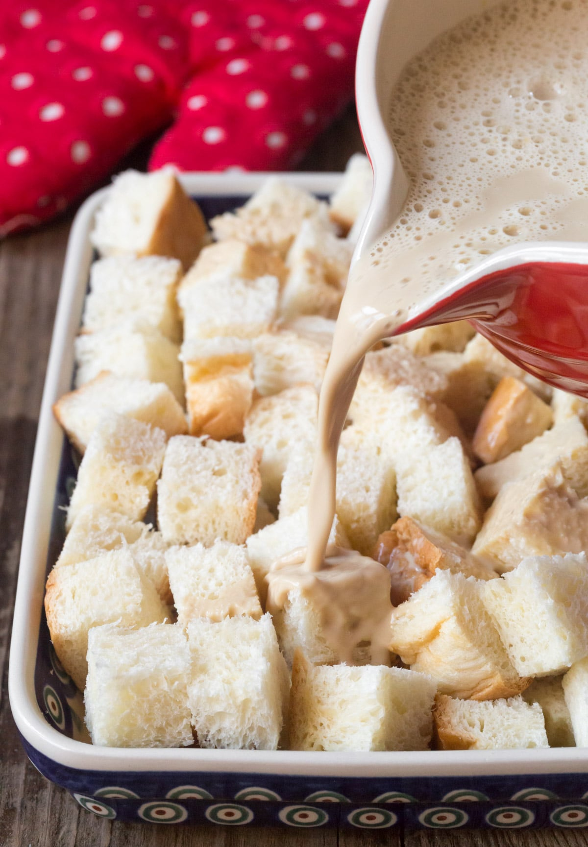How To Make: Vietnamese Coffee Bread Pudding Recipe #ASpicyPerspective #holiday #christmas