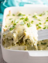 Enchiladas Suizas Recipe (Creamy Chicken Enchiladas) #ASpicyPerspective #GlutenFree