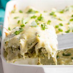 Enchiladas Suizas Recipe (Creamy Chicken Enchiladas) #ASpicyPerspective #GlutenFree