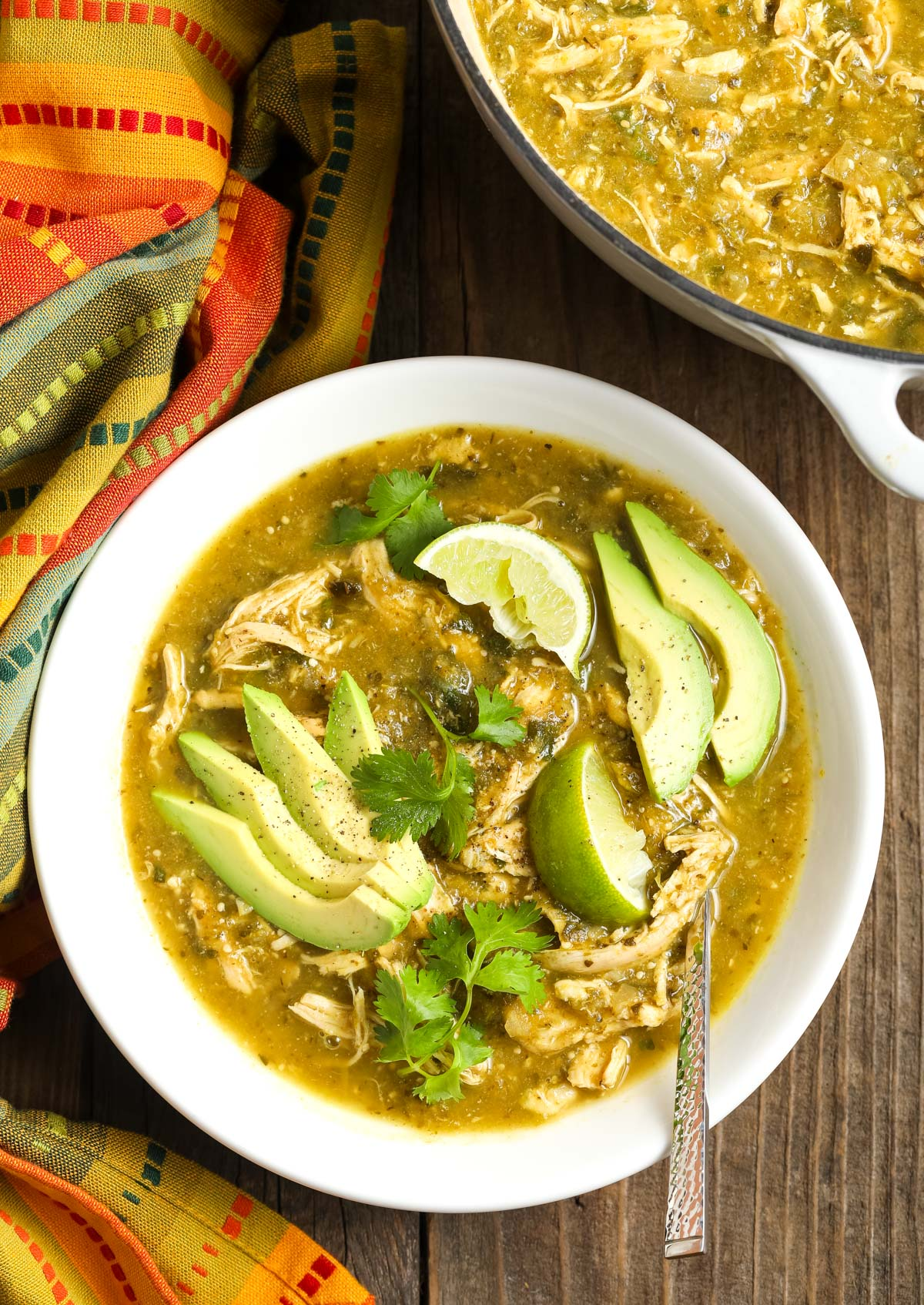 Paleo Chicken Chile Verde Recipe #ASpicyPerspective #whole30 #paleo #lowcarb
