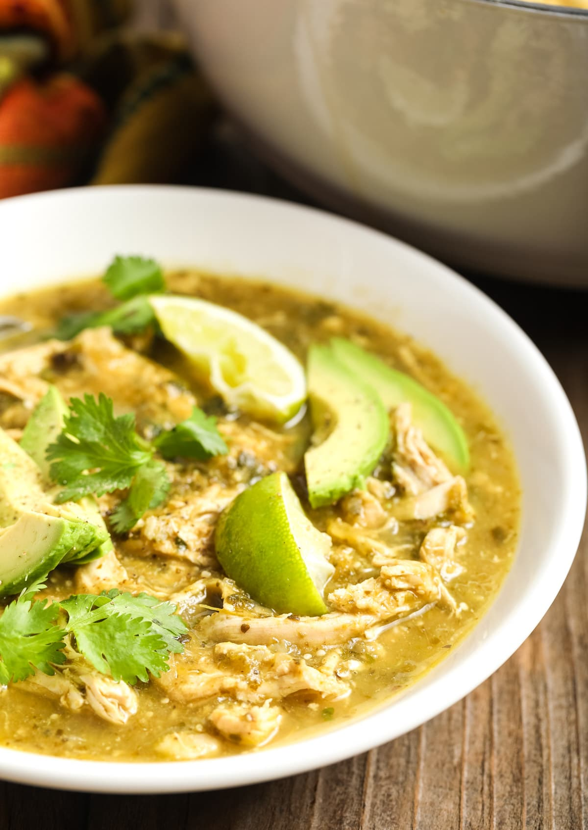 Whole 30 Chicken Chile Verde Recipe #ASpicyPerspective #whole30 #paleo #lowcarb