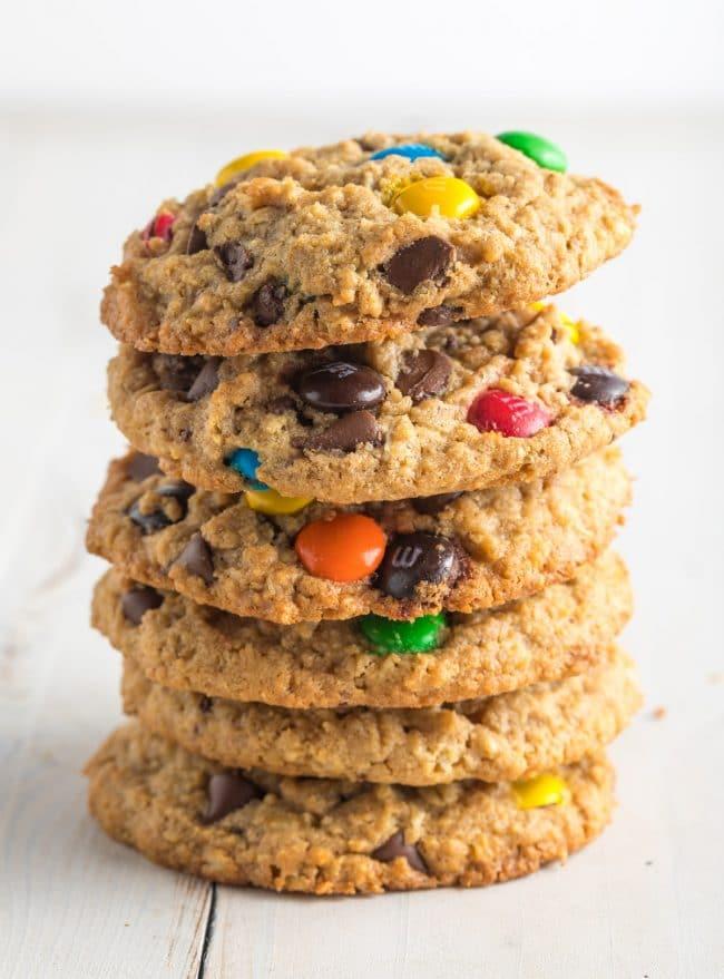 The BEST Gluten Free Monster Cookies Recipe #ASpicyPerspective #cookie #glutenfree