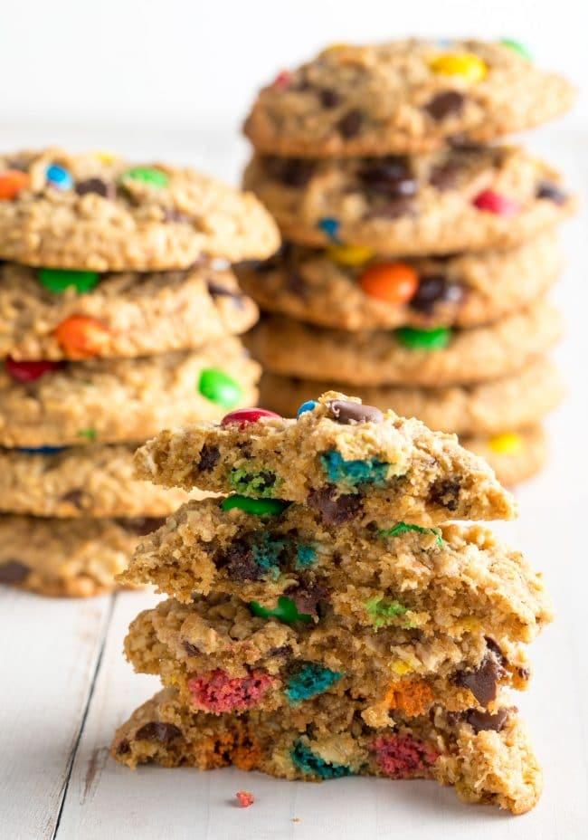 Our BEST Monster Cookies Recipe #ASpicyPerspective #cookie #glutenfree