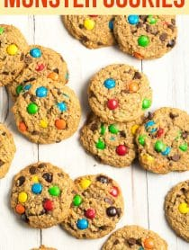 The BEST Monster Cookies Recipe you'll ever try! A Monster Cookie is 3 favorite cookies rolled into one. Plus, it's easily adapted for gluten free diets.