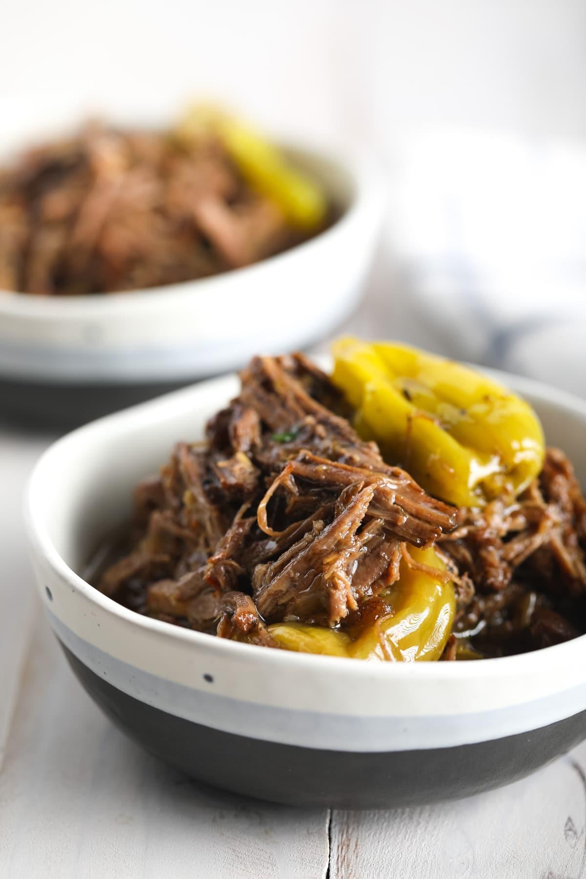 Paleo Instant Pot Italian Beef Recipe #ASpicyPerspective #pressurecooker #keto #lowcarb #paleo