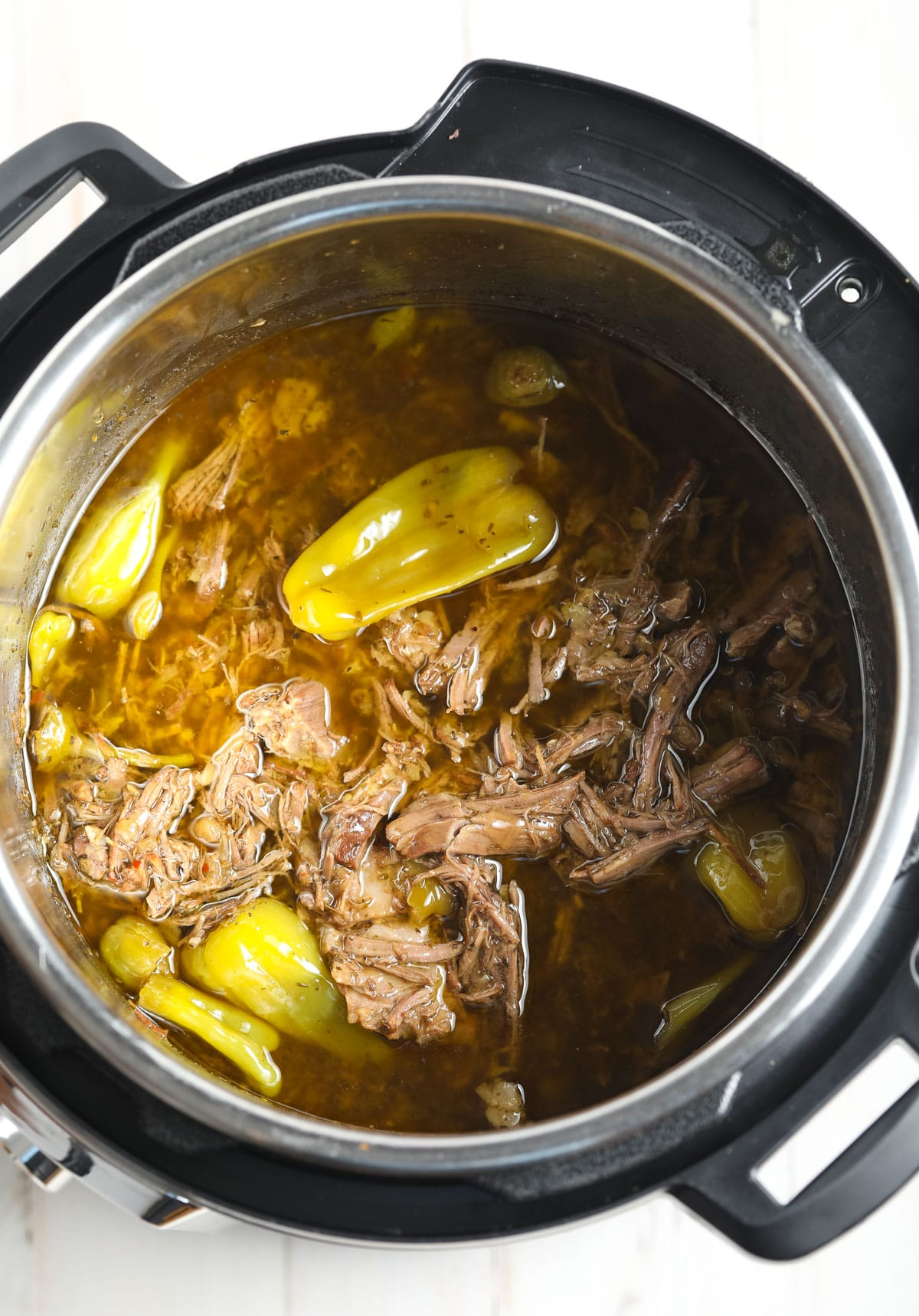 Low Carb Instant Pot Italian Beef Recipe #ASpicyPerspective #pressurecooker #keto #lowcarb #paleo