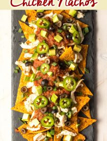 BEST Sheet Pan KETO Chicken Nachos Recipe #ASpicyPerspective #ketogenic #lowcarb