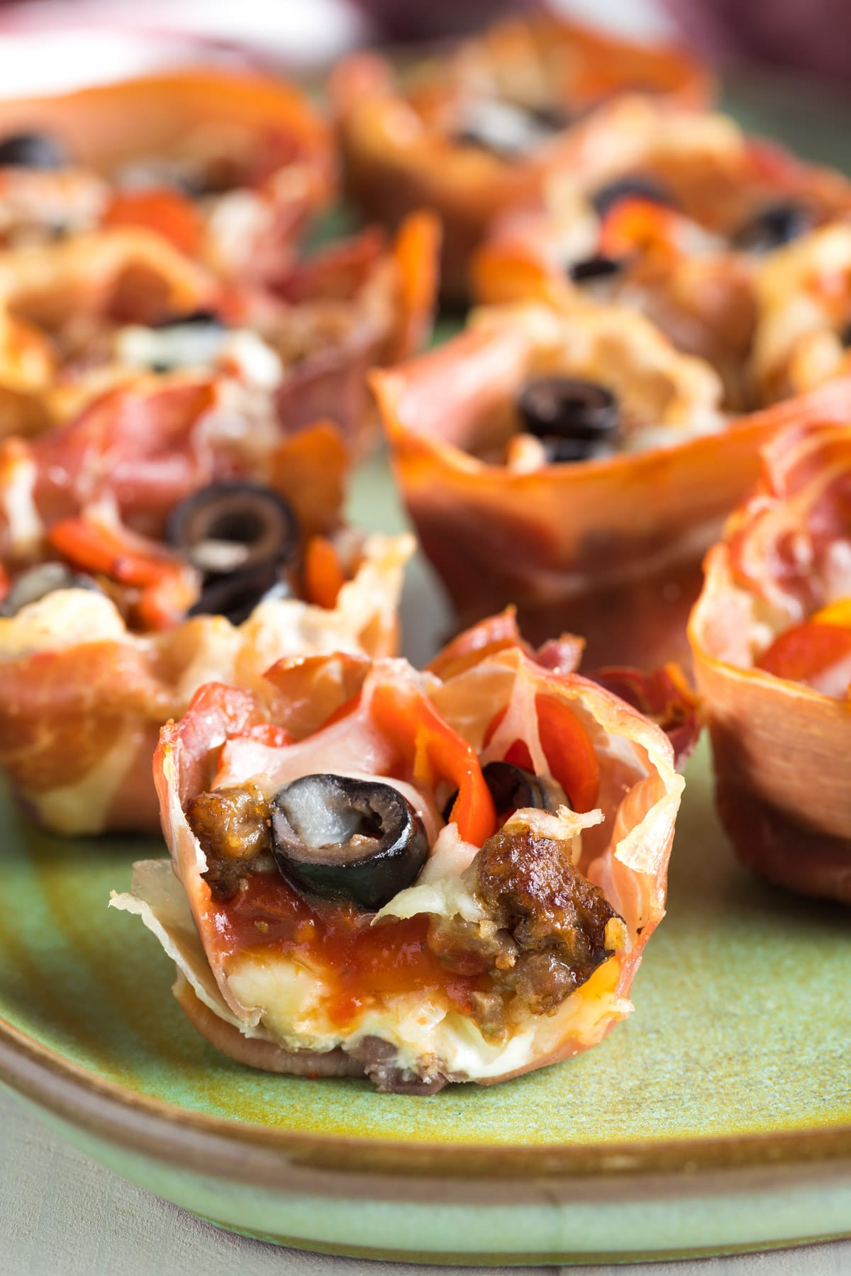 Best Low Carb Supreme Pizza Cups Recipe #ASpicyPerspective #keto #ketogenic