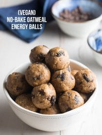 Simple No-Bake Oatmeal Energy Balls Recipe #Vegan #ASpicyPerspective