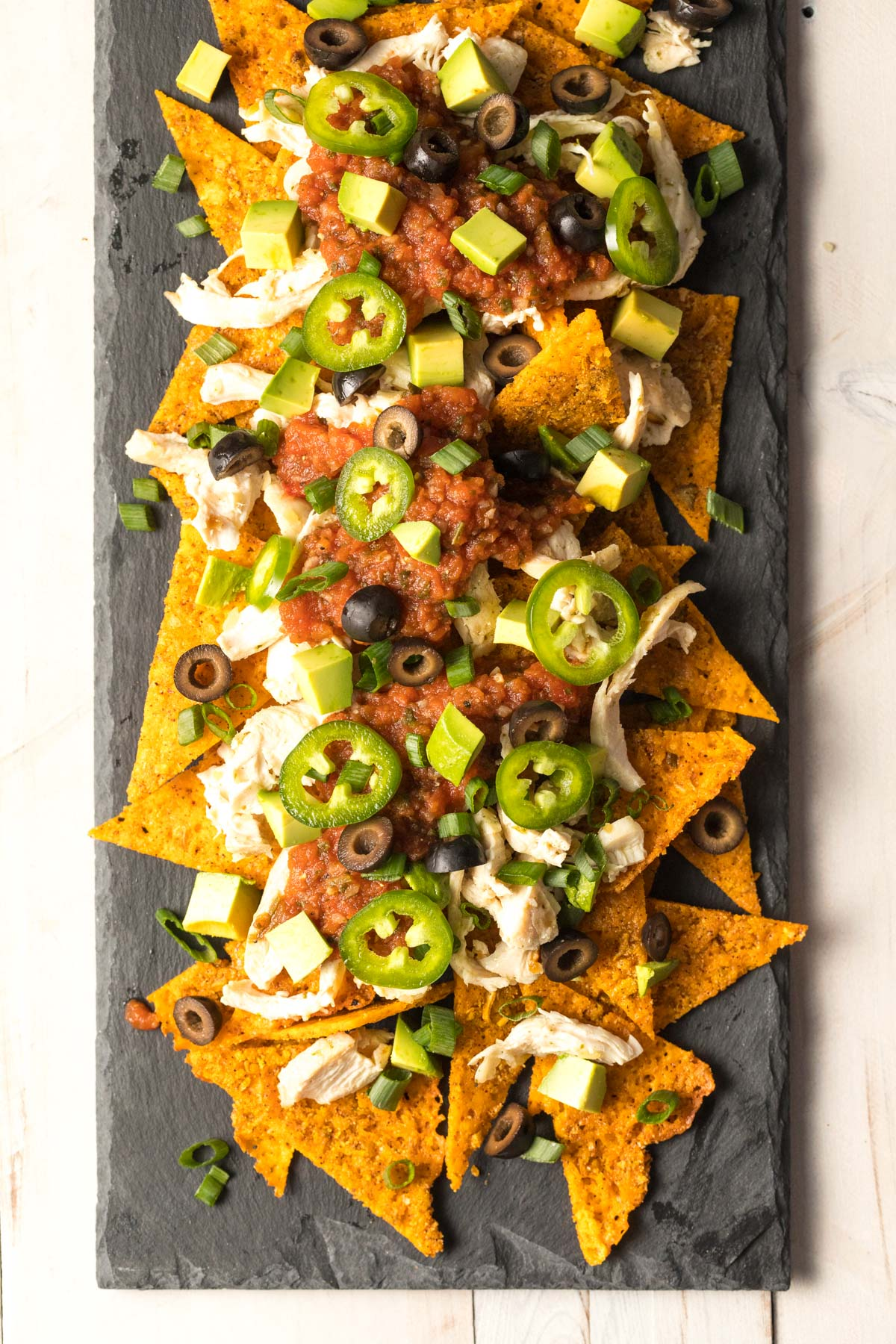 Sheet Pan KETO Chicken Nachos Recipe #ASpicyPerspective #ketogenic #lowcarb