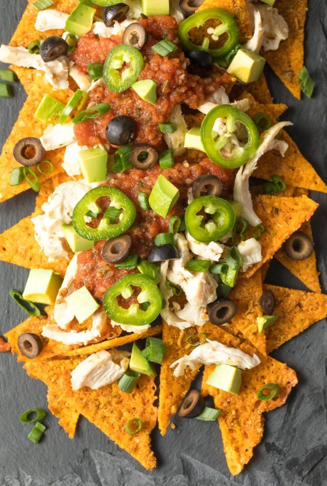 The Best Sheet Pan KETO Chicken Nachos Recipe #ASpicyPerspective #ketogenic #lowcarb
