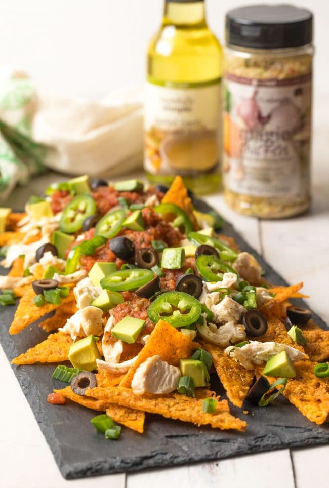 Sheet Pan KETOGENIC Chicken Nachos Recipe #ASpicyPerspective #ketogenic #lowcarb