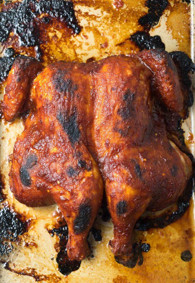 Best Coca-Cola Spatchcock Chicken Recipe #ASpicyPerspective #cokechicken #easter #roasted