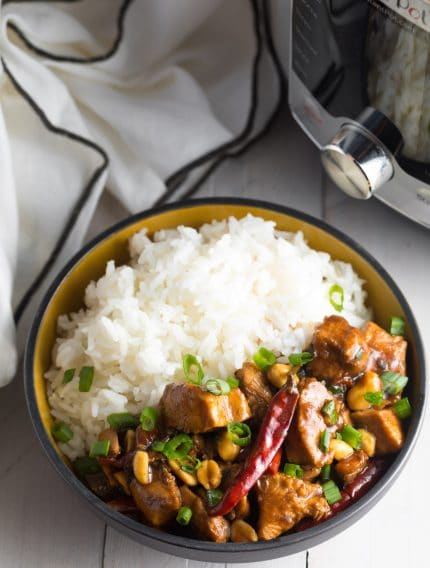 The BEST Instant Pot Kung Pao Chicken Recipe! #ASpicyPerspective #lowcarb #chinese #pressurecooker