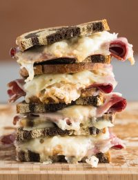 Baked Reuben Party Sandwiches Recipe #ASpicyPerspective #partysandwiches #bakedsandwiches