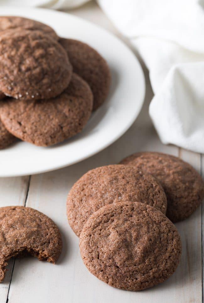 Easy Chocolate Sugar Cookies Recipe #ASpicyPerspective #cookies #chocolate #easter #spring #holiday