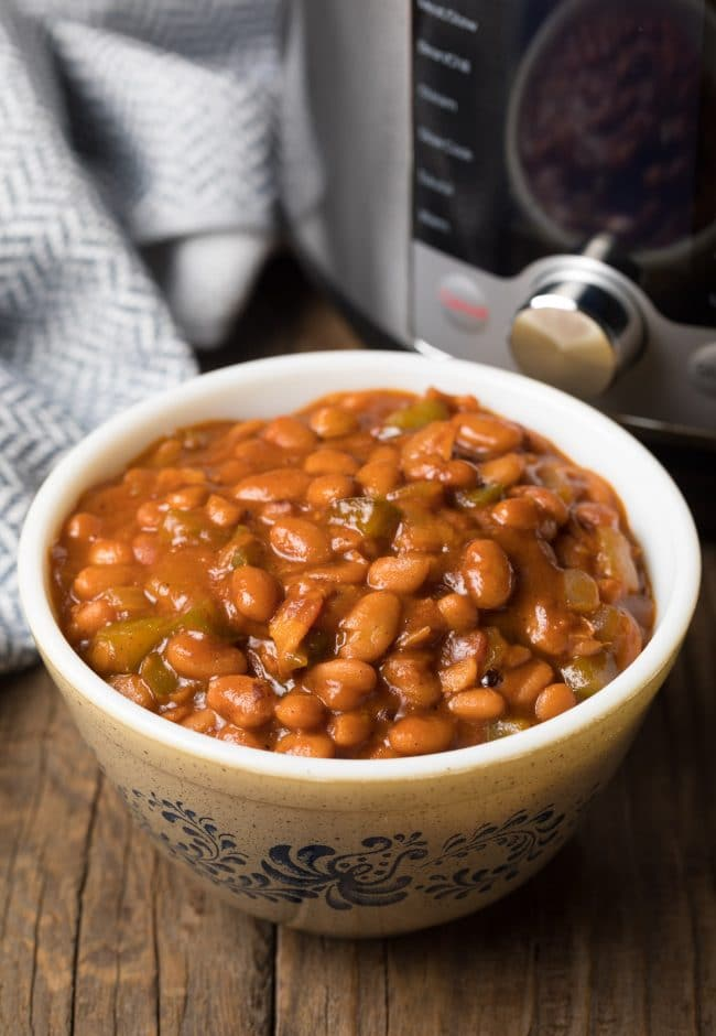 Our Best Instant Pot Baked Beans Recipe #ASpicyPerspective #pressurecooker #instantpot
