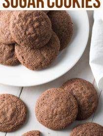 Best Chocolate Sugar Cookies Recipe #ASpicyPerspective #cookies #chocolate #easter #spring #holiday