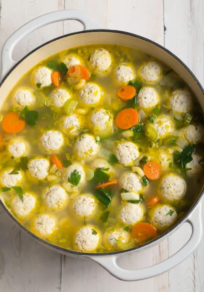 Healthy Italian Meatball Soup Recipe #ASpicyPerspective #glutenfree #skinny