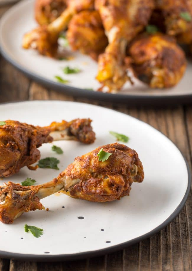 Juicy Instant Pot Tandoori Chicken Drumsticks Recipe #ASpicyPerspective #instantpot #pressurecooker #tandoori