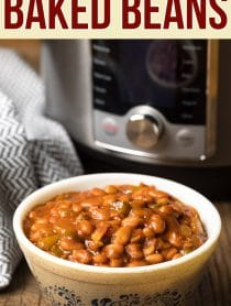 The Best Instant Pot Baked Beans Recipe #ASpicyPerspective #pressurecooker #instantpot