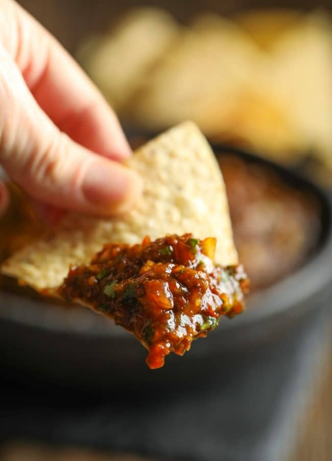 Smoky Salsa Al Pastor Recipe #ASpicyPerspective #whole30 #paleo #vegan #glutenfree