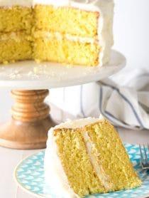 Best Lemon Buttermilk Cake Recipe #ASpicyPerspective #lemon #cake #easter