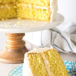 Best Lemon Buttermilk Cake Recipe #ASpicyPerspective #lemon #cake #easter