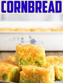 The Best Fluffy Broccoli Cornbread Recipe #ASpicyPerspective #Easter #southern #cornbread