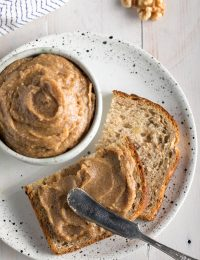 Cinnamon Maple Walnut Butter Recipe #ASpicyPerspective #vegan #spreads #nutbutter