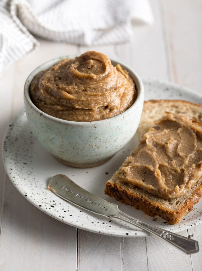 Best 5-Ingredient Cinnamon Maple Walnut Butter Recipe #ASpicyPerspective #vegan #spreads #nutbutter