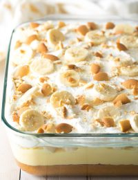Layered Banana Pudding Bake Recipe #ASpicyPerspective #easter #bananacake #spring #potluck #picnic