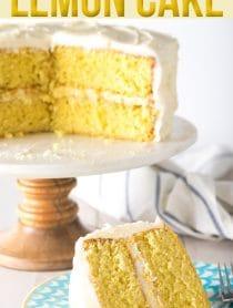 The Best Lemon Buttermilk Cake Recipe #ASpicyPerspective #lemon #cake #easter