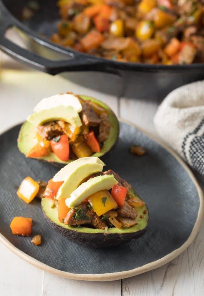 How To Prep: Steak Fajita Stuffed Avocado Recipe #ASpicyPerspective #lowcarb #keto #paleo