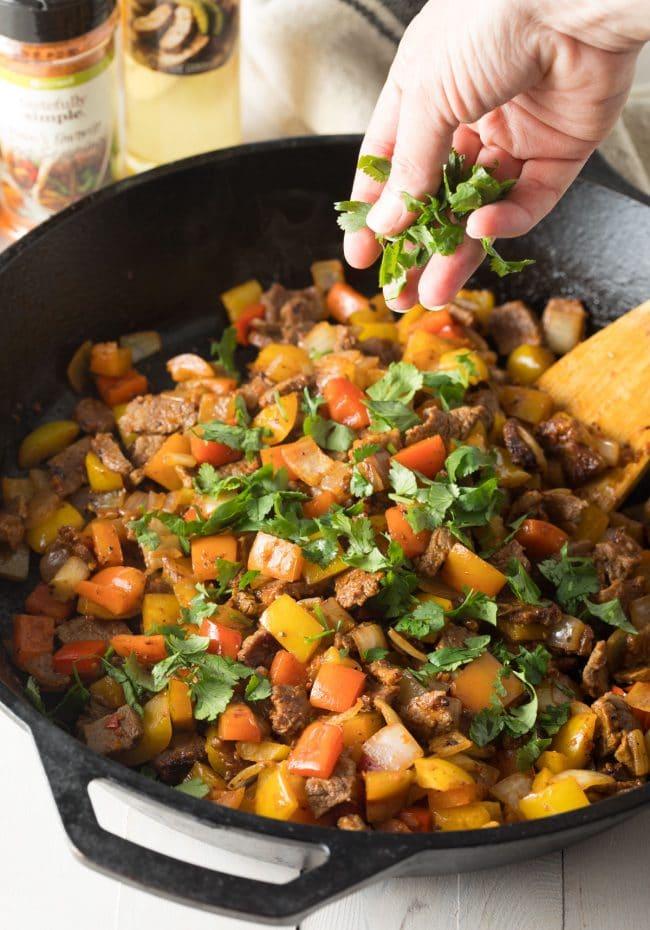 Quick Steak Fajita Stuffed Avocado Recipe #ASpicyPerspective #lowcarb #keto #paleo