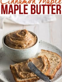 5-Ingredient Cinnamon Maple Walnut Butter Recipe #ASpicyPerspective #vegan #spreads #nutbutter