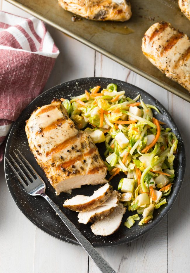 Best 4-Ingredient Magic Chicken Breast Recipe #ASpicyPerspective #chicken #grilled #baked