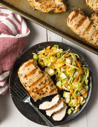 4-Ingredient Magic Chicken Breast Recipe #ASpicyPerspective #chicken #grilled #baked